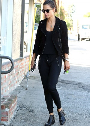 Alessandra Ambrosio Shopping on Robertson Boulevard in Los Angeles