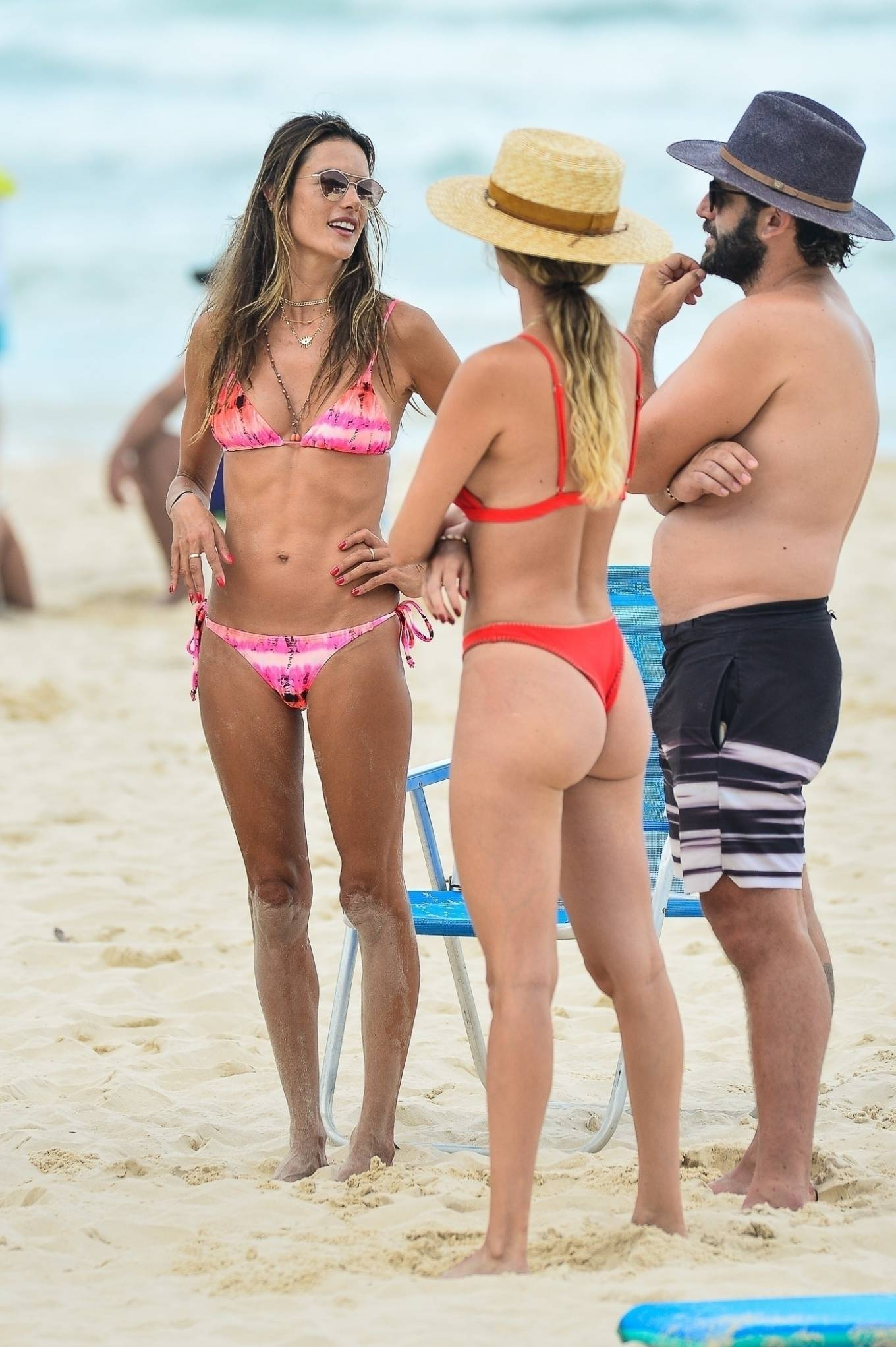 Alessandra Ambrosio - Spotted on the beach in Florianopolis