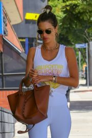 Alessandra Ambrosio - Spotted while exits a pilates studio in Los Angeles