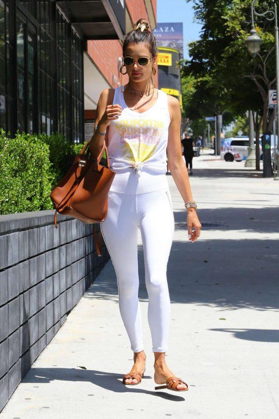 Alessandra Ambrosio 2019 : Alessandra Ambrosio – Spotted while exits a pilates studio in Los Angeles-24