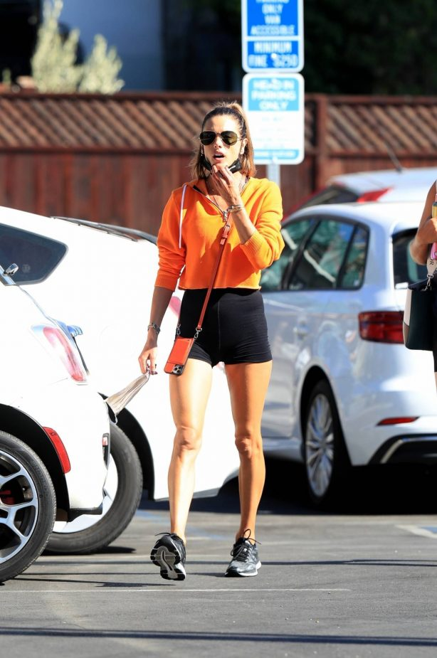 Alessandra Ambrosio - Spotted while going to a gym in West Hollywood