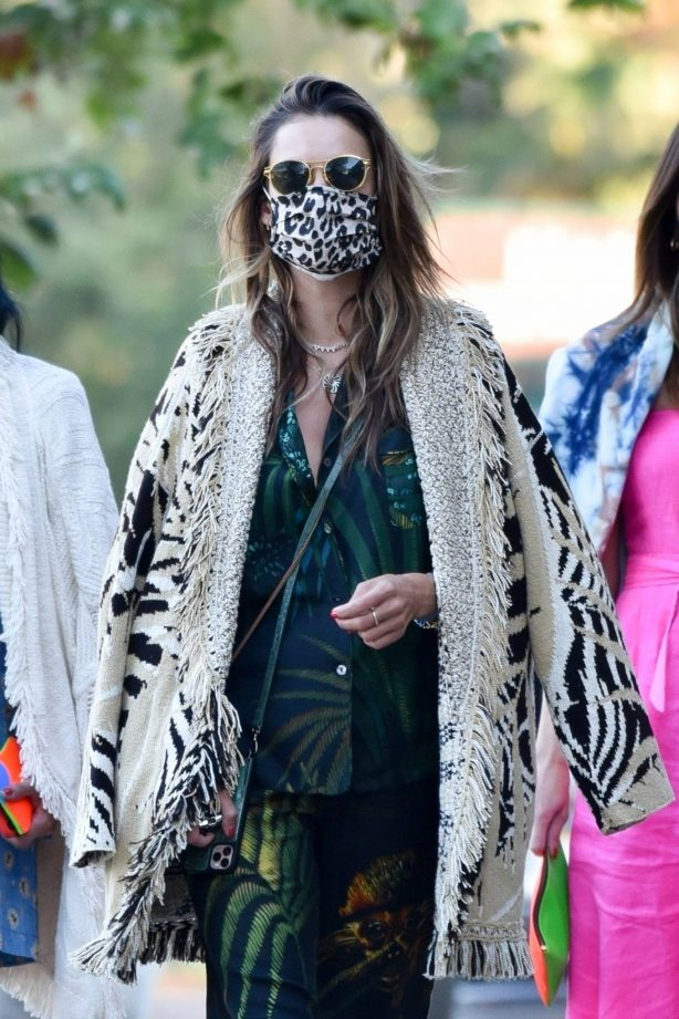 Alessandra Ambrosio - Stepping out for a Greek dinner in Malibu