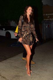 Alessandra Ambrosio - steps out for dinner at Italian restaurant Giorgio Baldi in Santa Monica