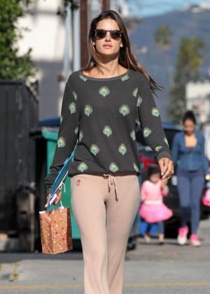 Alessandra Ambrosio Street Style out in Santa Monica