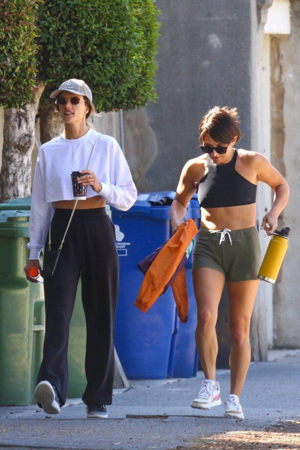 Alessandra Ambrosio - Takes a morning walk in Santa Monica