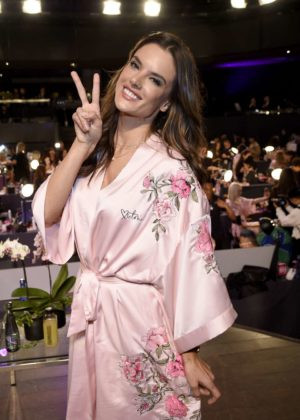 Alessandra Ambrosio - Victoria's Secret Fashion Show Backstage 2017 in Shanghai