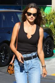 Alessandra Ambrosio - Visits the application support center in Los Angeles