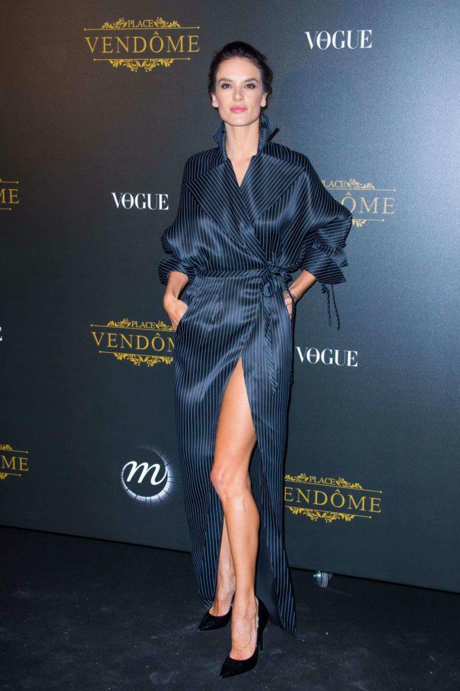 Alessandra Ambrosio: Vogue party at 2017 Paris Fashion Week-01