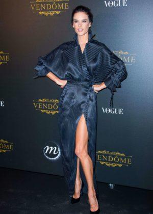 Alessandra Ambrosio - Vogue party at 2017 Paris Fashion Week