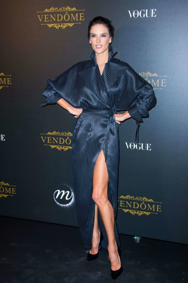 Alessandra Ambrosio - Vogue party at 2017 Paris Fashion Week