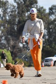 Alessandra Ambrosio - Walks her dog in Brentwood