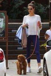 Alessandra Ambrosio - Walks her dog in Malibu