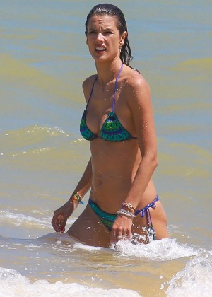 Alessandra Ambrosio Hot in Bikini -01