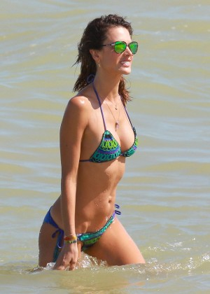 Alessandra Ambrosio Hot in Bikini in Brazil