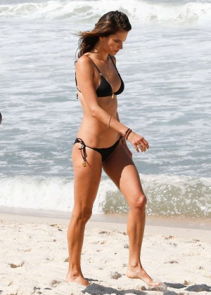 Alessandra Ambrosio in Black Bikini -06