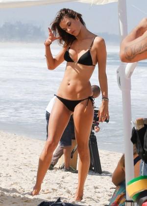 Alessandra Ambrosio in Black Bikini -28