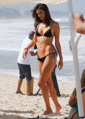 Alessandra Ambrosio in Black Bikini -31