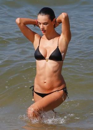 Alessandra Ambrosio in Black Bikini -32