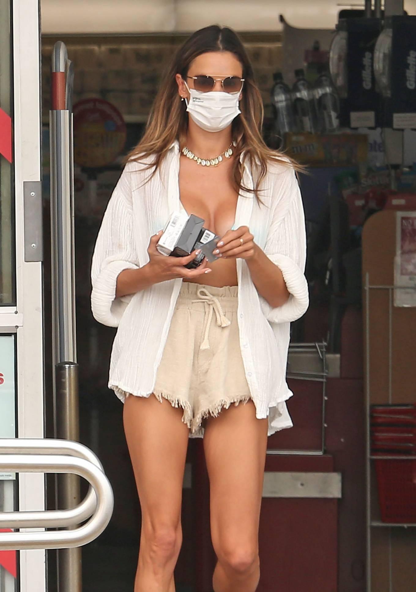 Alessandra Ambrosio 2020 : Alessandra Ambrosio – Wearing bikini top leaving CVS in Los Angeles-17