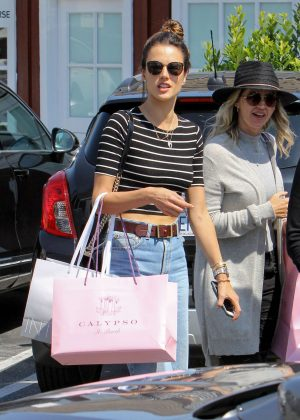 Alessandra Ambrosio with friend out in Los Angeles
