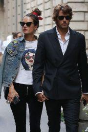 Alessandra Ambrosio with her boyfriend in Milan