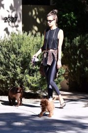 Alessandra Ambrosio with her dog in Brentwood