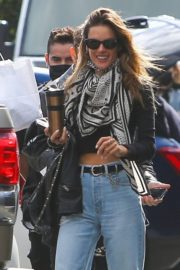 Alessandra Ambrosio - With Richard Lee as they get picked up by a limo in Los Angeles