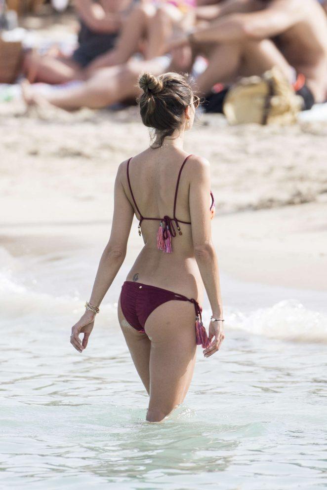 Alessandra Ambrossio in Bikini in Ibiza
