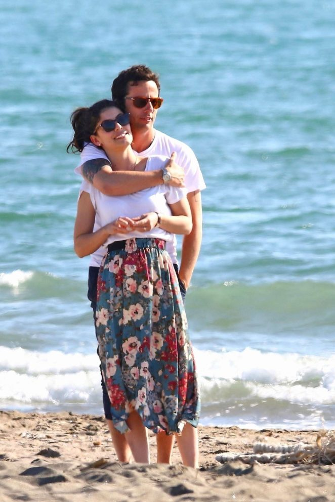Alessandra Mastronardi and Ross McCall on the beach in Fregene