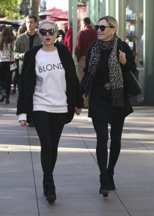 Alessandra Torresani With Her Mother Shopping in West Hollywood