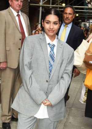 Alessia Cara - Arriving at The Late Show with Stephen Colbert in NYC