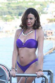 Alessia Fabiani in Bikini in Ischia