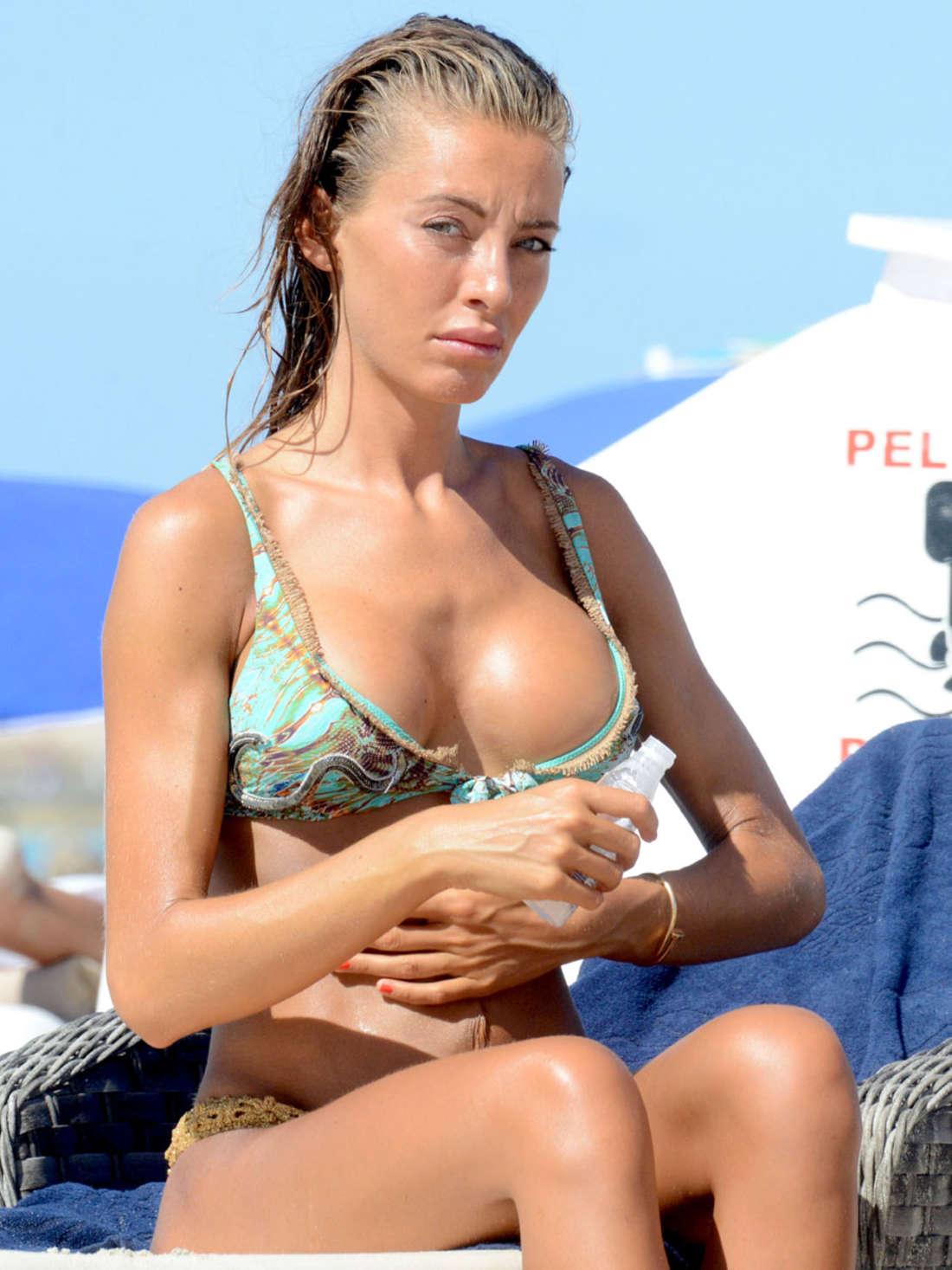 Alessia Tedeschi Pink Swimsuit Photos: 2014 in Miami -02