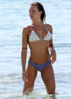 Alessia Tedeschi in Bikini on the beach in Formentera