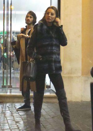 Alessia Tedeschi Shopping in Rome