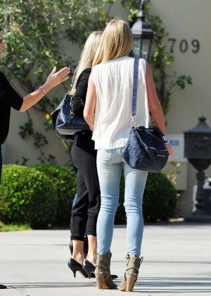 Alex Gerrard in Tight Jeans out in LA