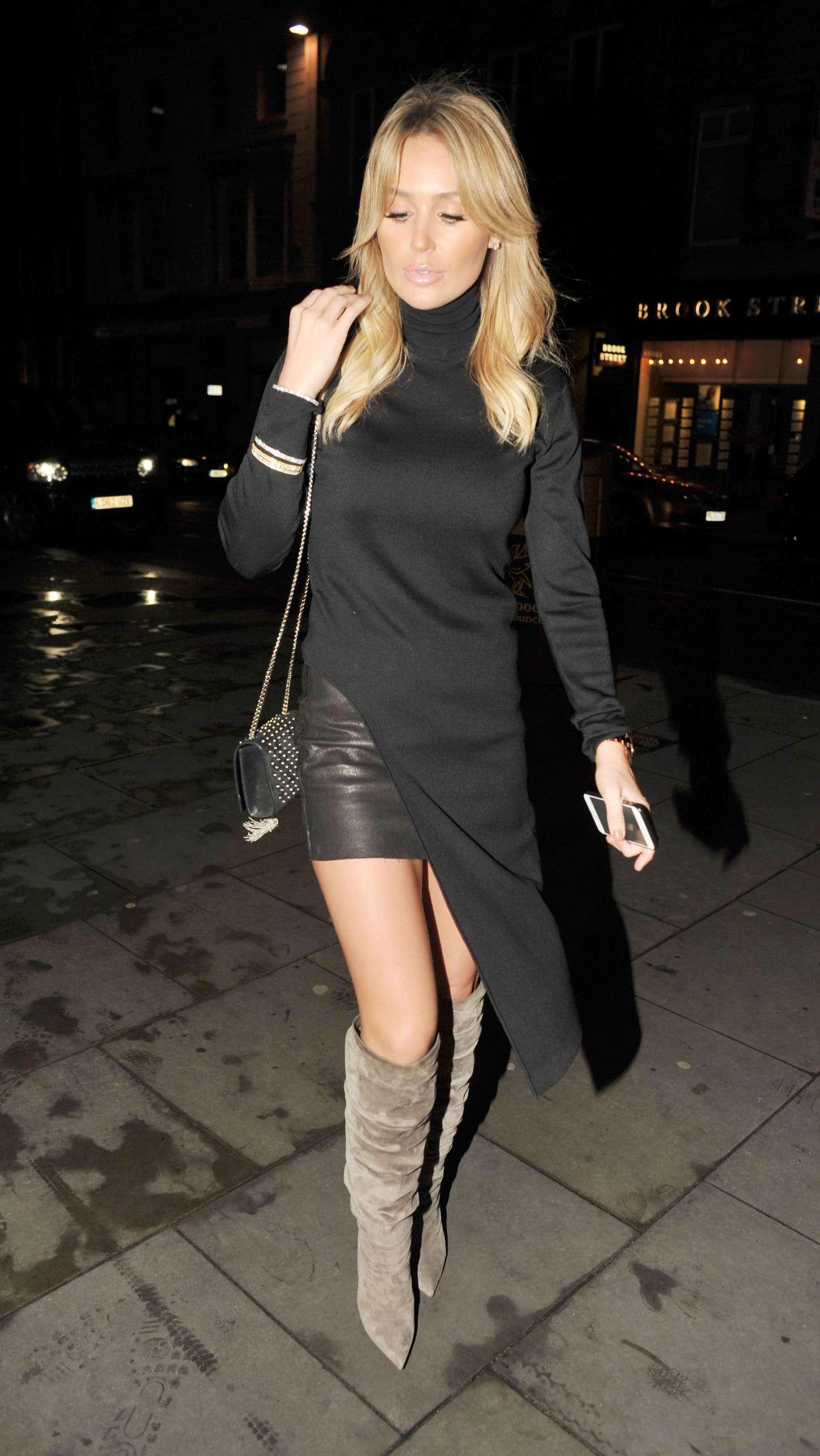 Alex gerrard in black dress out in liverpool