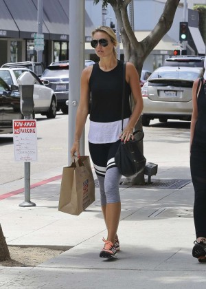Alex Gerrard in Leggings Shopping in Beverly Hills