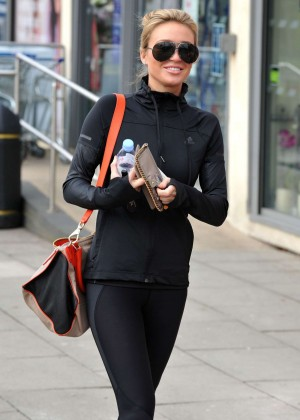 Alex Gerrard in Leggings out in Liverpool