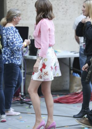 Alex Jones - Filming 'The One Show' in London