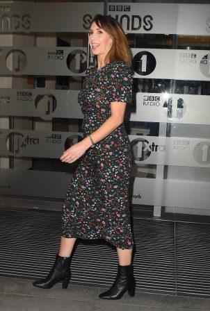 Alex Jones - In a floral dress in London
