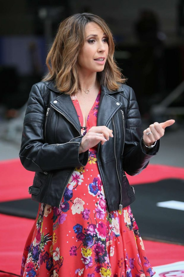 Alex Jones in Leather Jacket - BBC The One Show in London