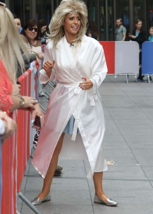 Alex Jones on the set for BBC's The One Show in London