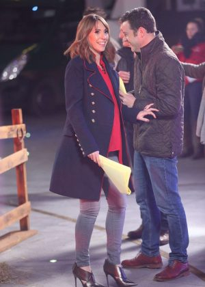 Alex Jones on the set of 'The One Show' in London