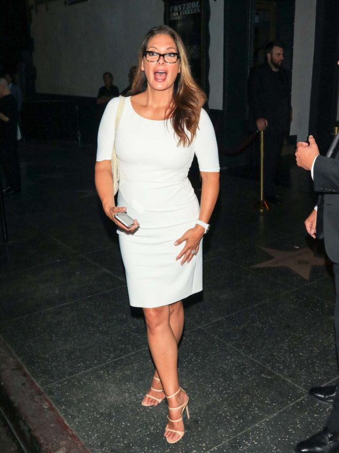 Alex Meneses in White Dress - Out in Los Angeles