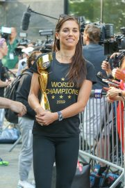 Alex Morgan - Holding the Trophy after winning the 2019 FIFA Women's World Cup as the Team in NYC