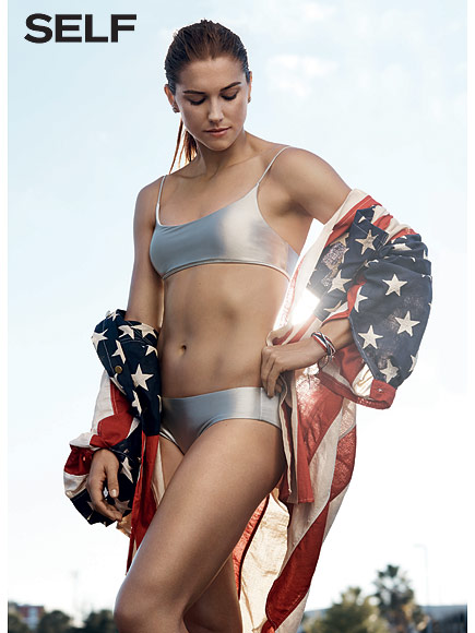 Alex Morgan - Self Magazine (Jan/Feb 2016) adds