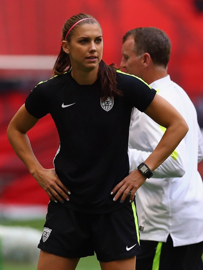 Alex Morgan - Training Session in Vancouver