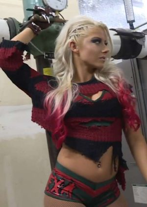 Alexa Bliss in Freddy Krueger Costume for Halloween 2016