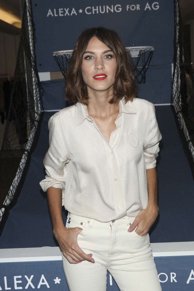 Alexa Chung: AG Launch Party -02